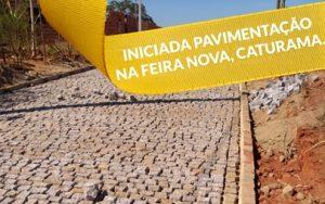 Distrito de Feira Nova está sendo pavimentado